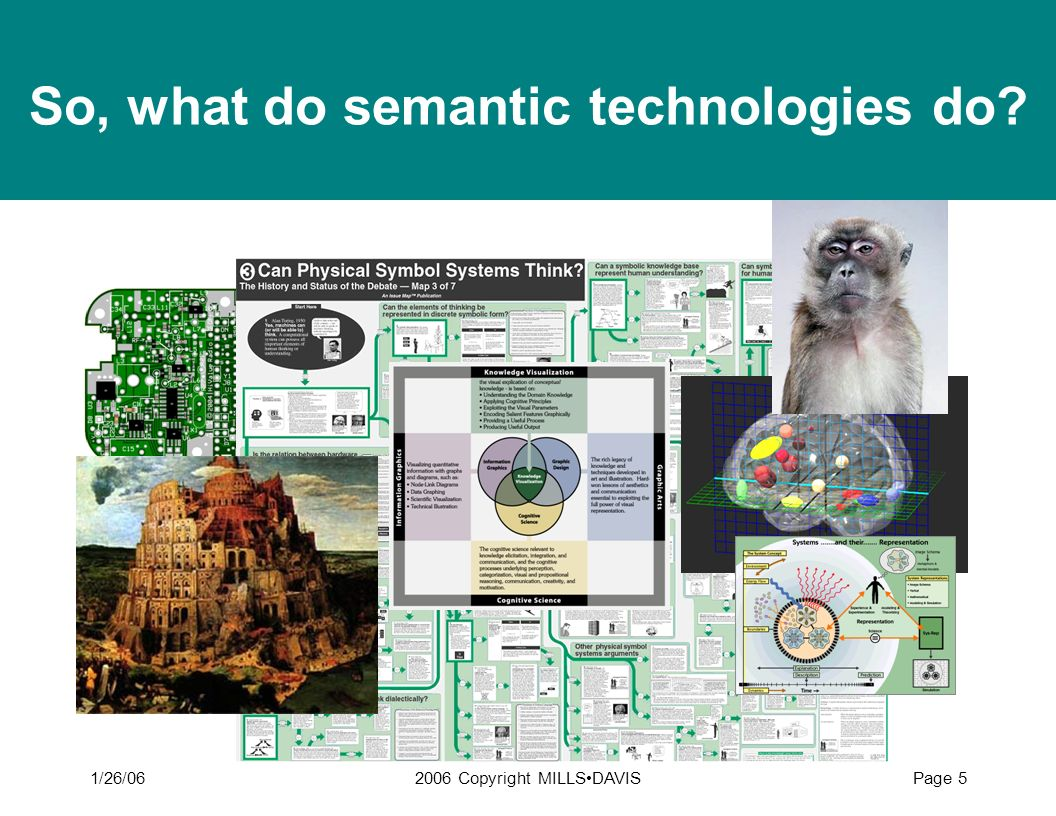 So, what do semantic technologies do