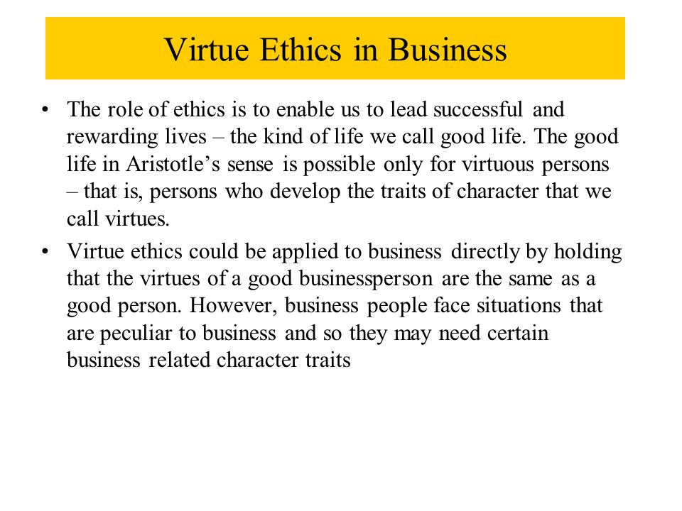 Virtue ethics and care ethics