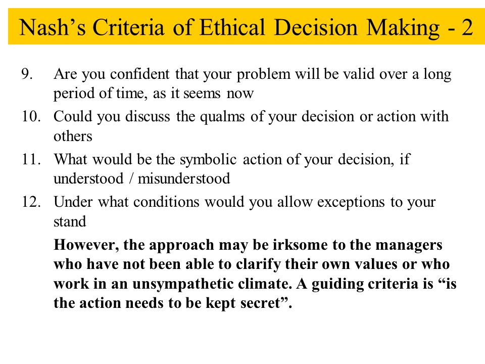bowen s ethical decision making A practical model for ethical decision making in issues management and public relations shannon a bowen school of communication university of houston the deontological philosophy of immanuel kant (1724–1804) provides a powerful  bowen practical model for ethical decision making and bowen  the.
