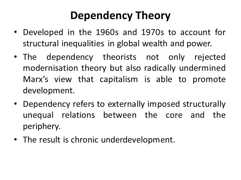 Distinction between diversity and dependency thesis