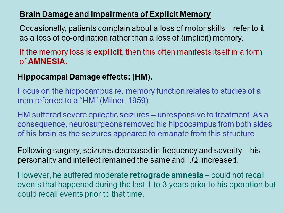 The Neurology and Dysfunctions associated with Learning and Memory ...