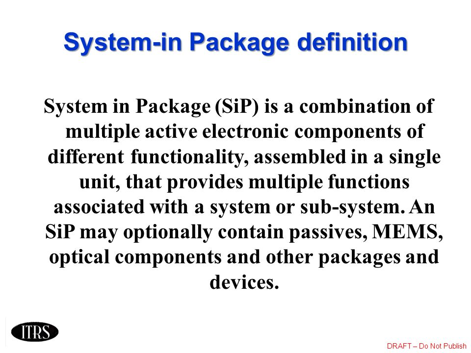 System-in Package definition