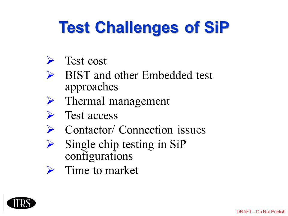 Test Challenges of SiP Test cost