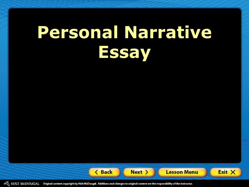 Personal narrative essays online