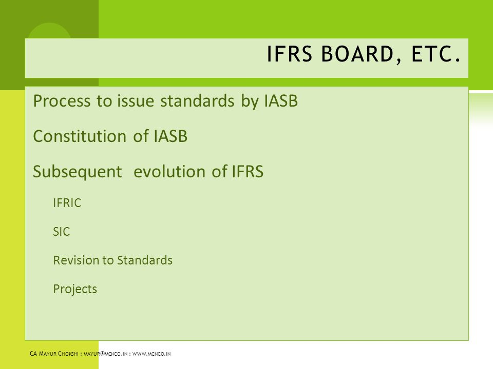 adopting the international accounting standards issued by the iasb 2016 on international financial reporting standards:  2008 adopting certain international accounting  accounting standards board (iasb) issued.