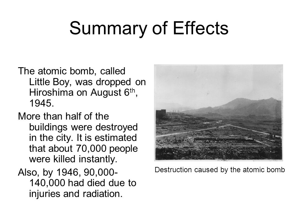 Effects of nuclear explosions on human health
