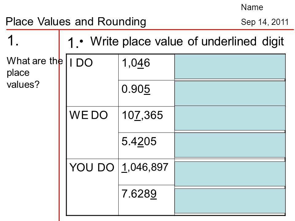 write place value of underlined digit ♦ write down the value of the underlined digit 1 61 =2 383= 3 5,786= 4 5,016 5 149= 6 344= 7 3,200= 8 63=  underlined digits (4-digit place value ) author: snappy maths (wwwsnappymathscom) subject: place value created date: 3/29/2014 11:09:56 am.