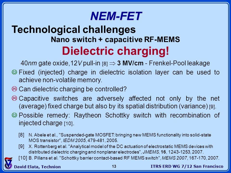 Nano switch + capacitive RF-MEMS