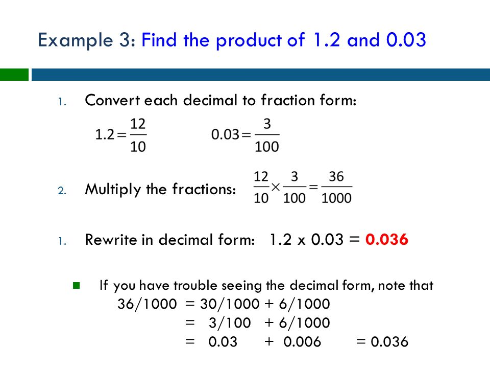 Conceptual arithmetic methods with decimals - ppt download