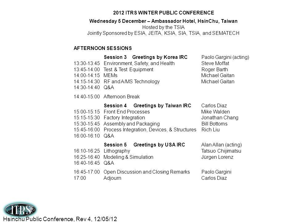 Hsinchu Public Conference, Rev 4, 12/05/12