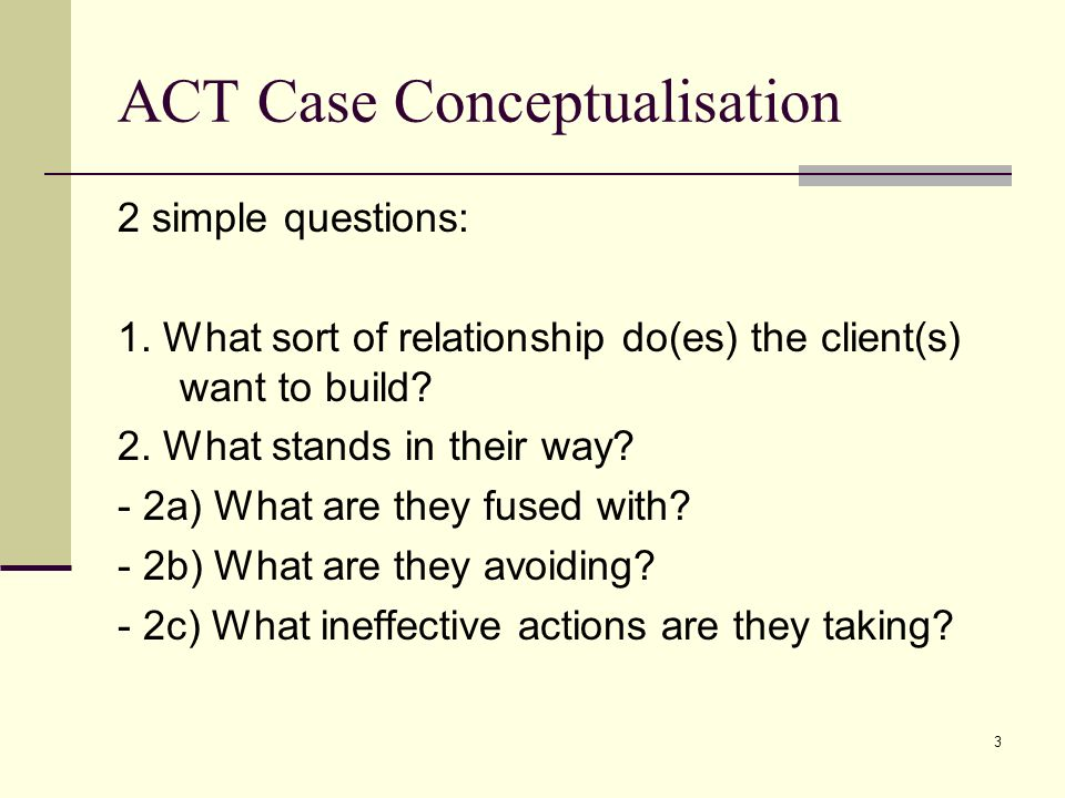 ACT Case Conceptualisation