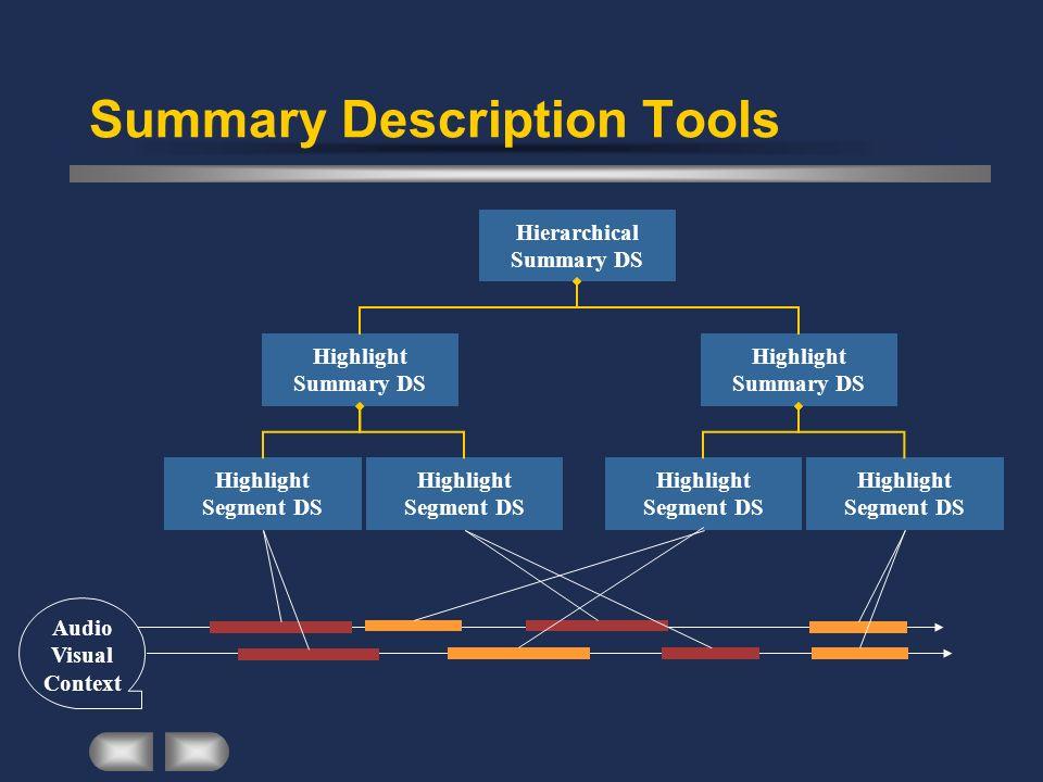 Summary Description Tools