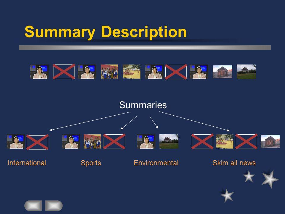 Summary Description Summaries International Sports Environmental