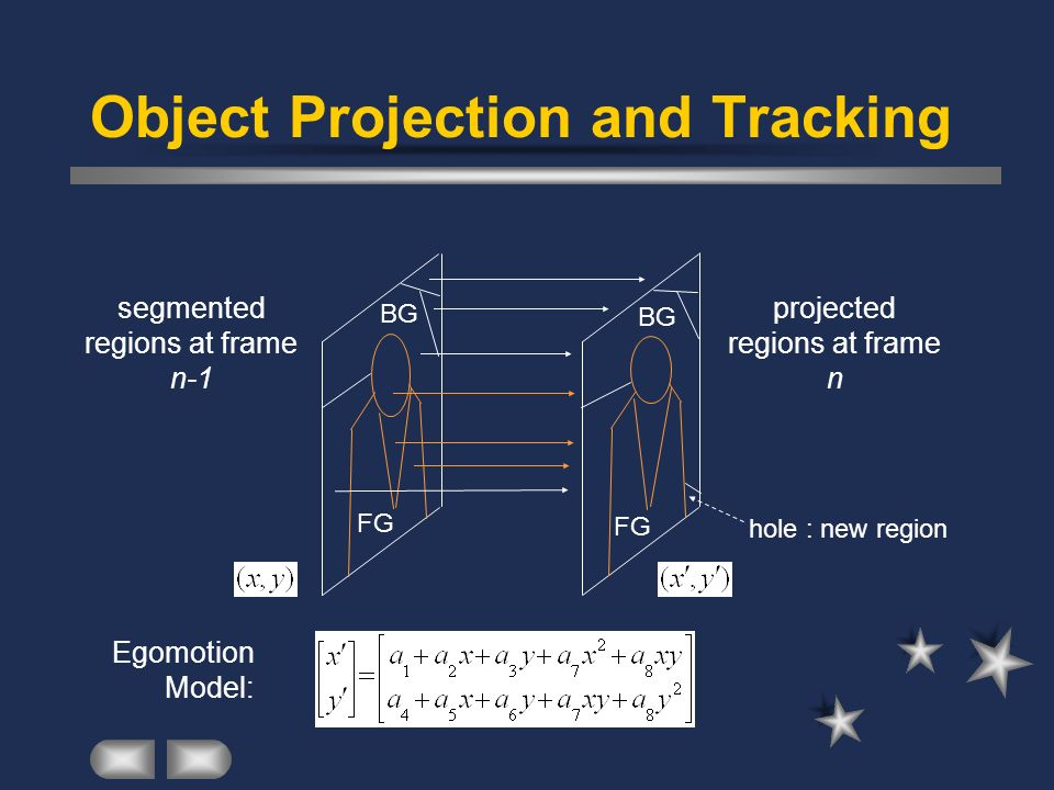 Object Projection and Tracking