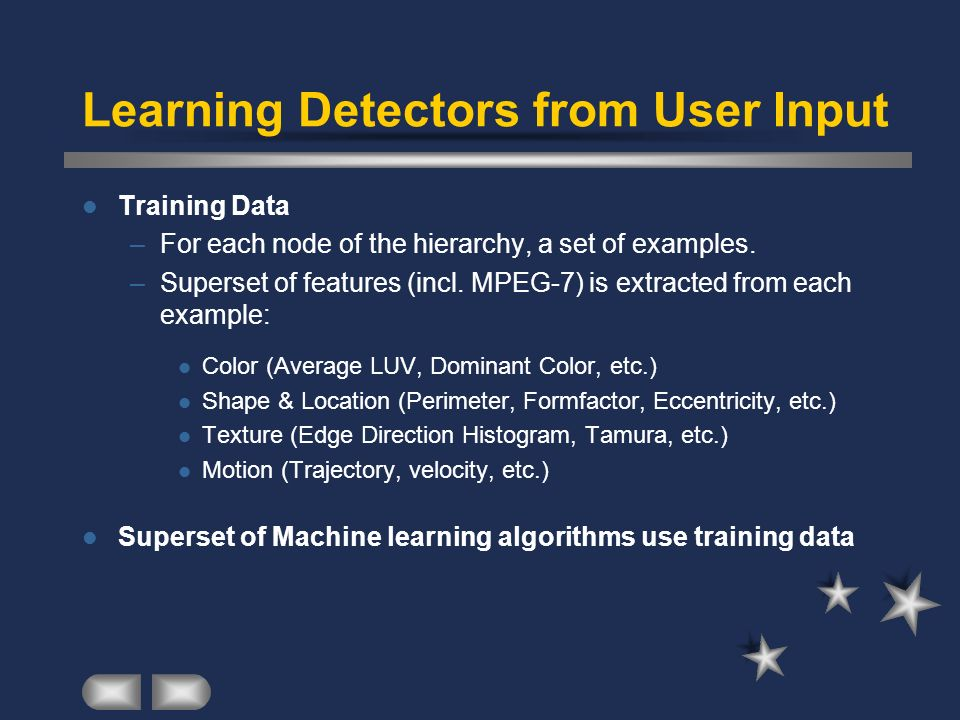 Learning Detectors from User Input