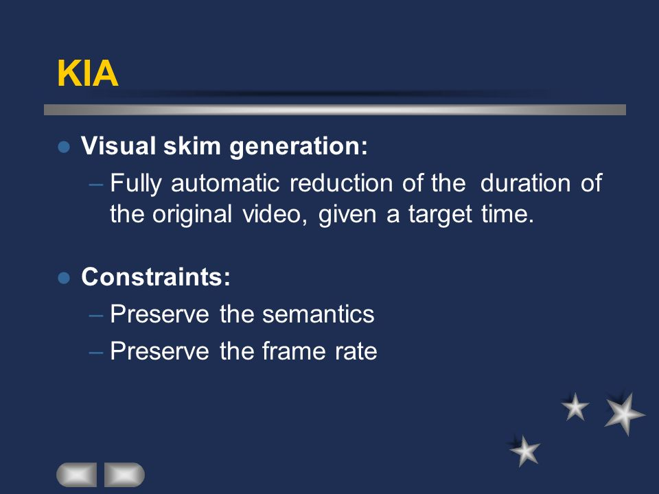 KIA Visual skim generation:
