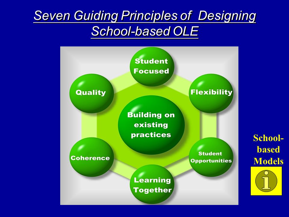 Seven Guiding Principles of Designing School-based OLE