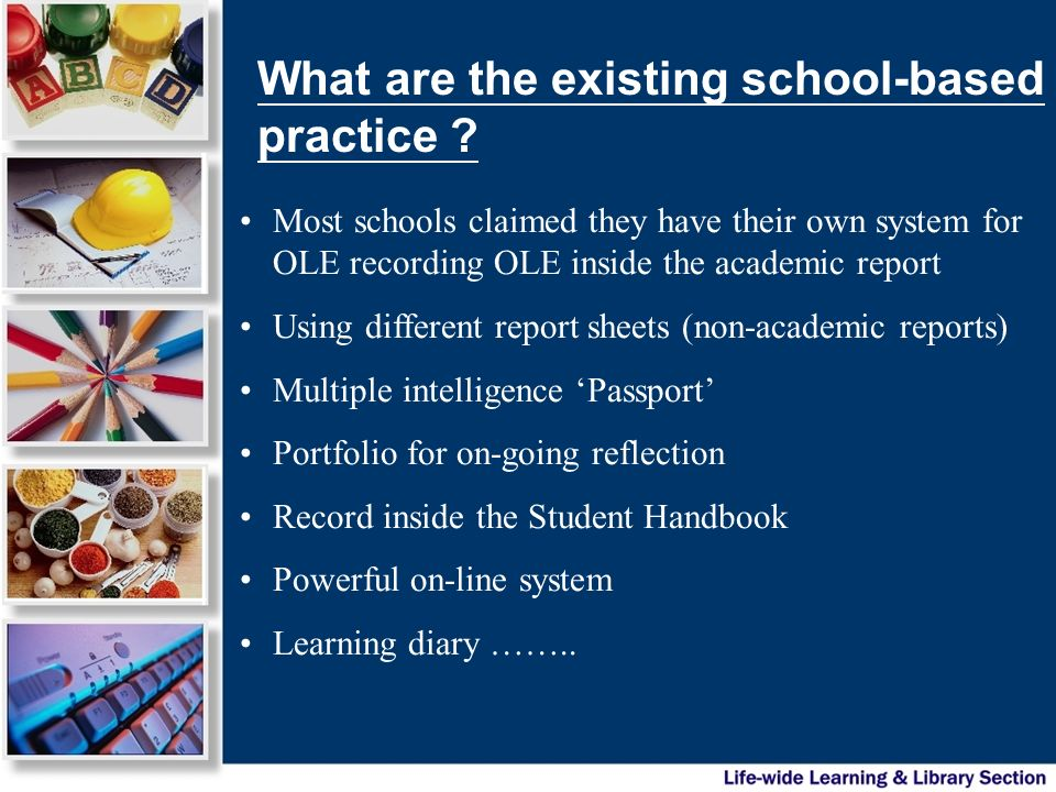 What are the existing school-based practice