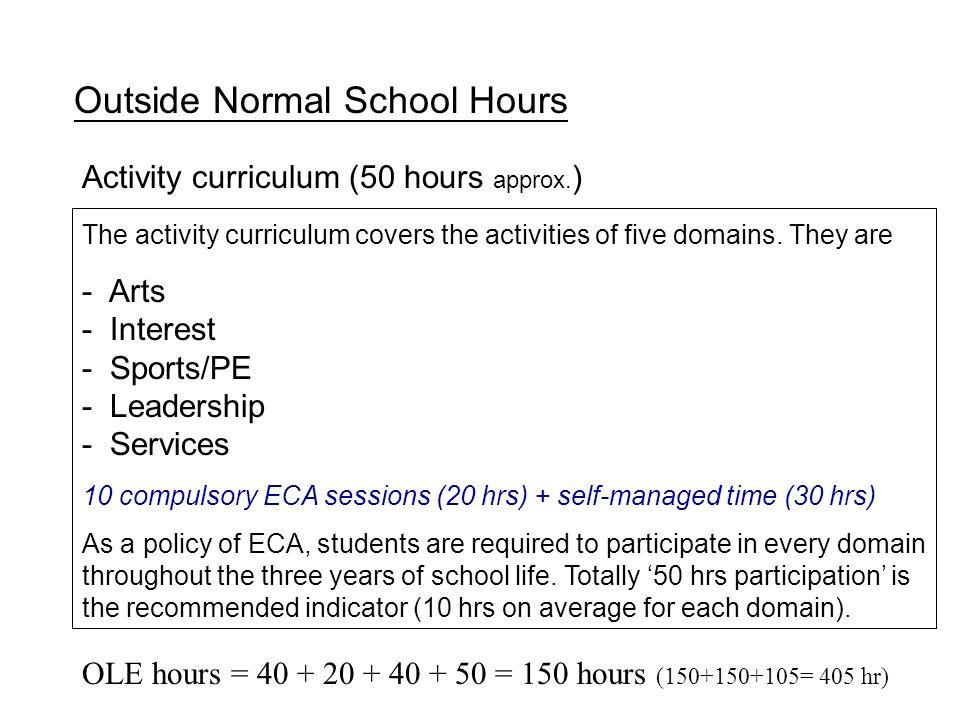 Outside Normal School Hours
