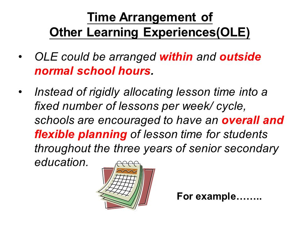 Time Arrangement of Other Learning Experiences(OLE)
