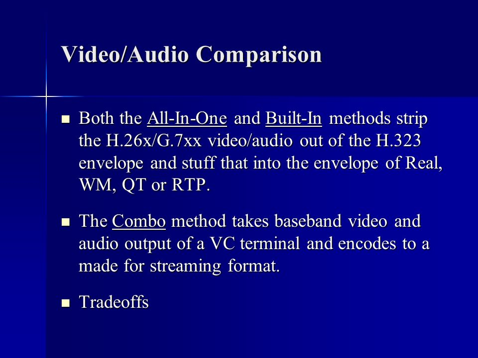 Video/Audio Comparison