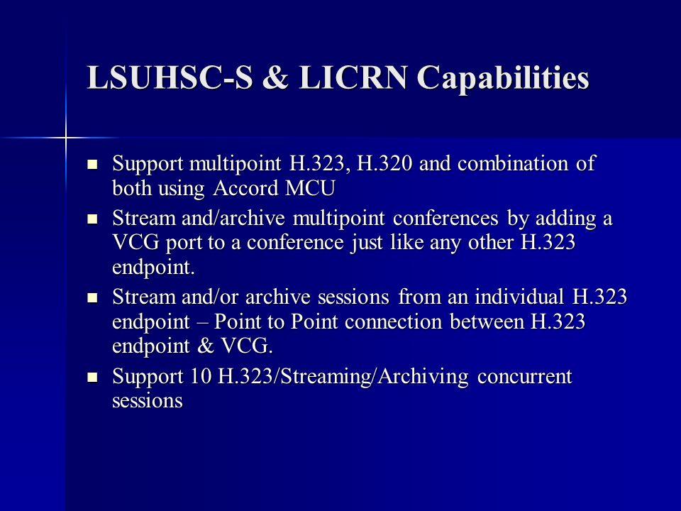 LSUHSC-S & LICRN Capabilities