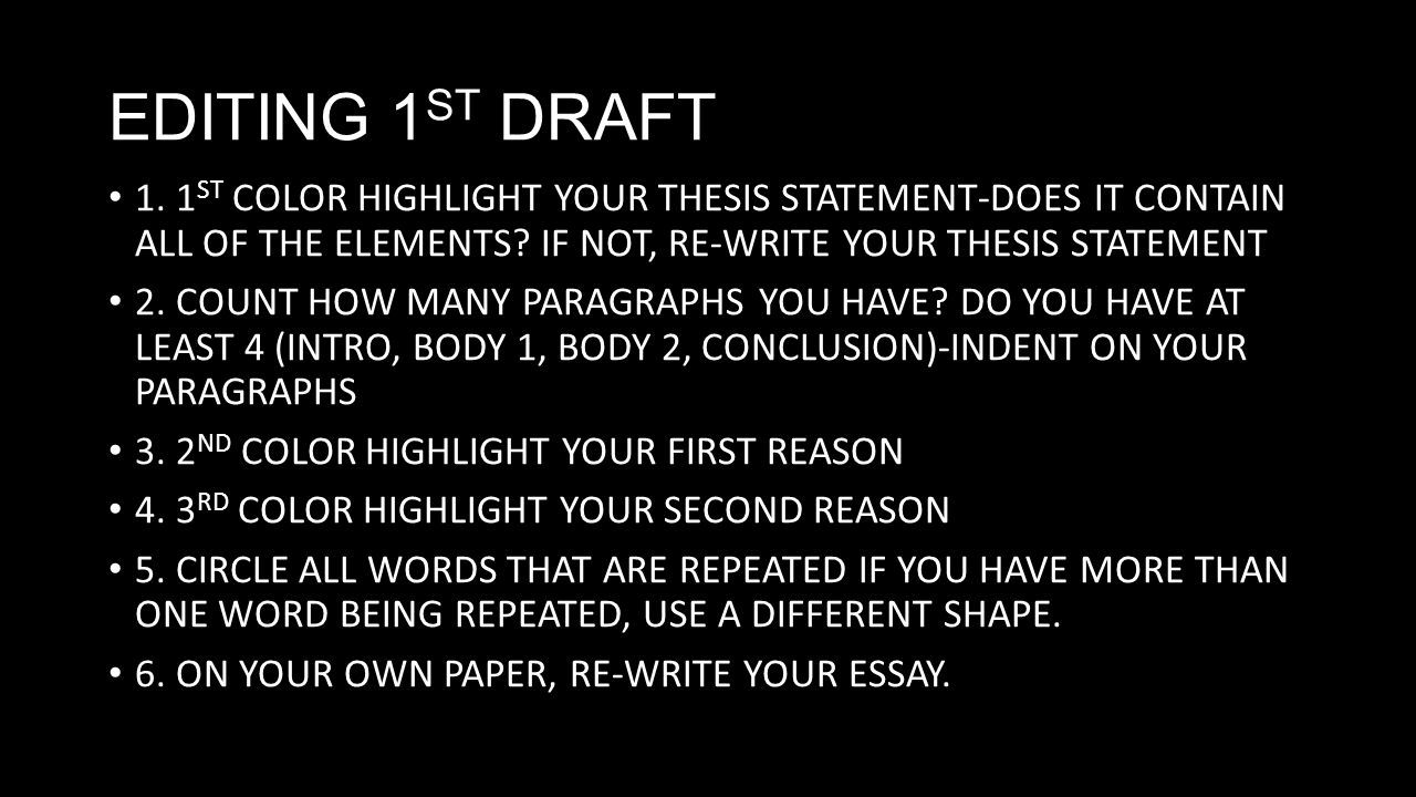 How to write your thesis in a day