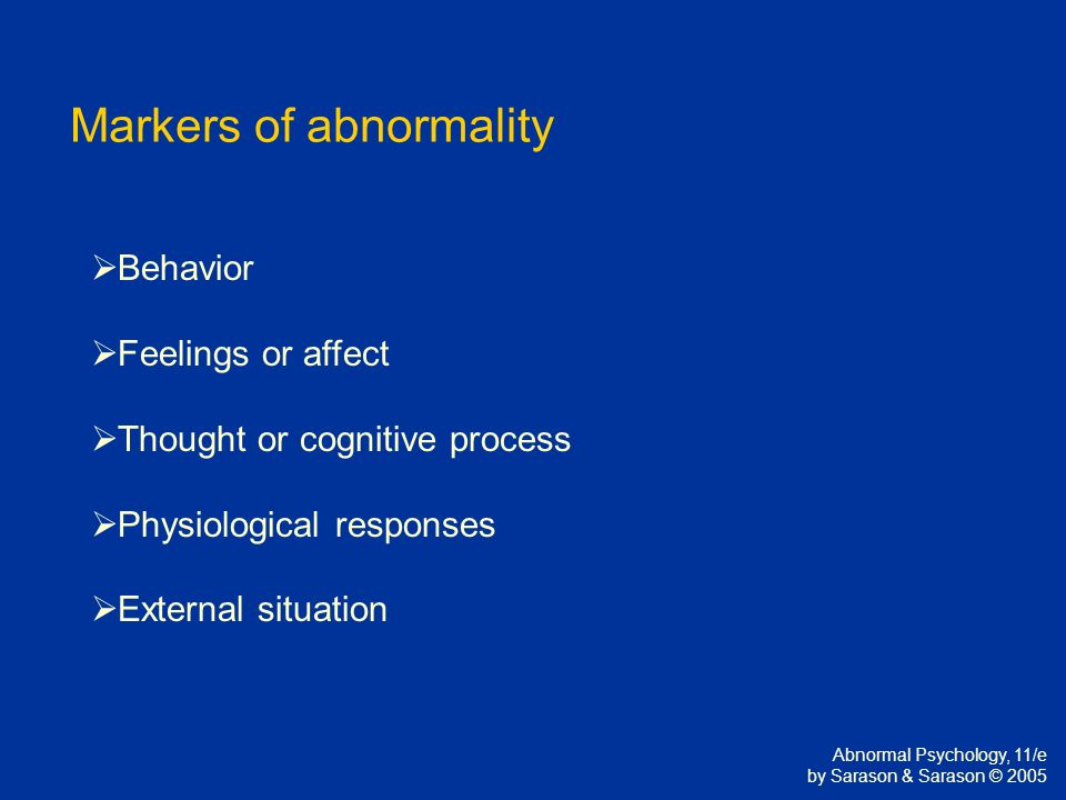Abnormality (behavior)