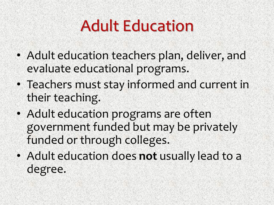 Adult Educational Programs 70