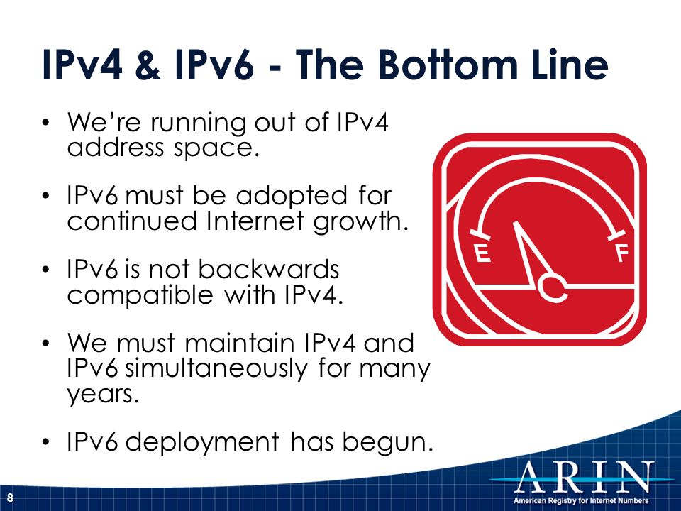 IPv4 & IPv6 - The Bottom Line