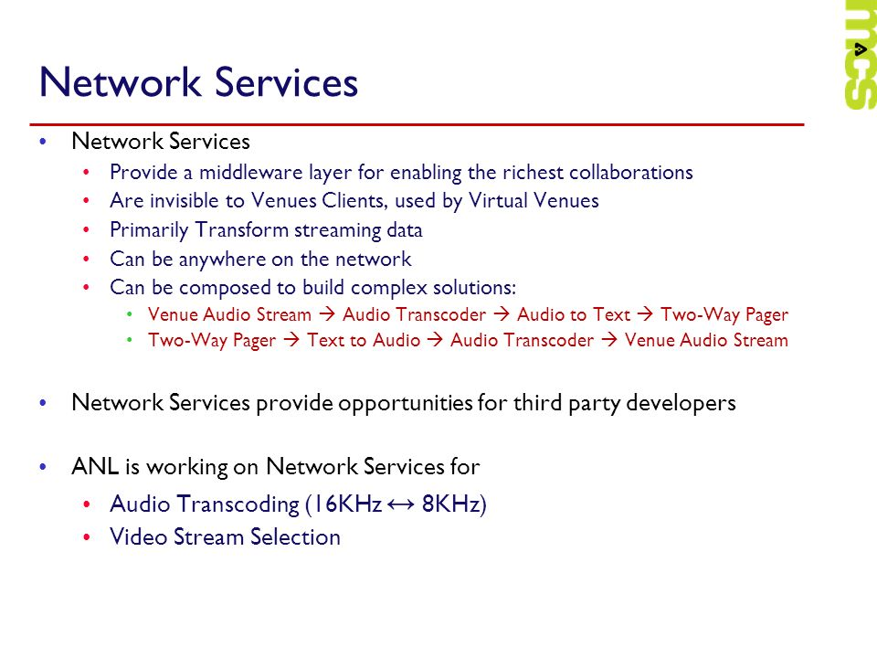 Network Services Network Services