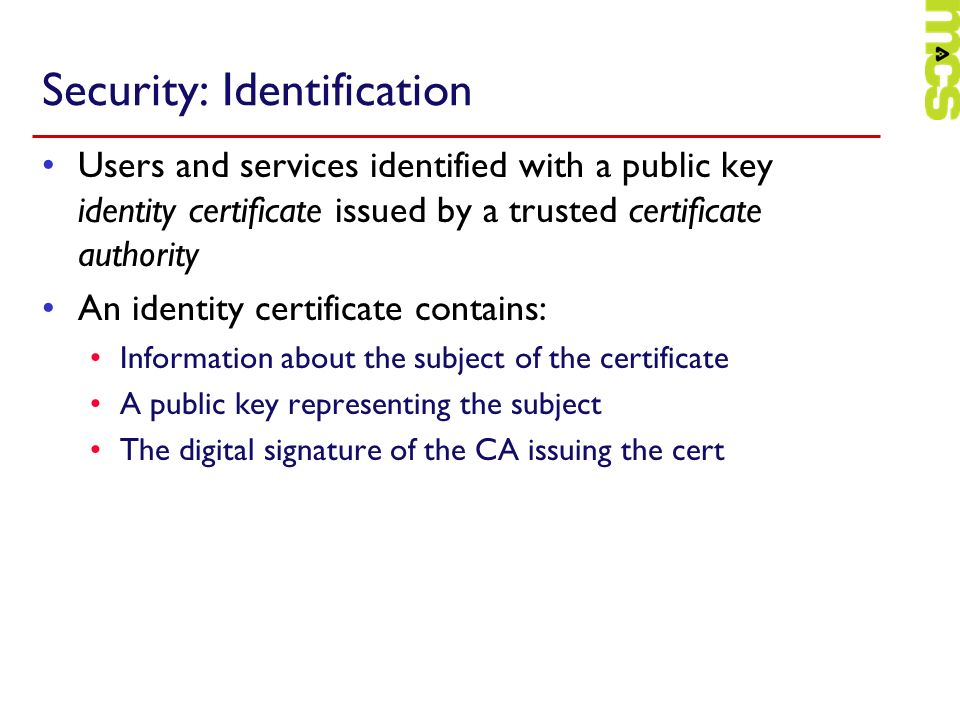 Security: Identification