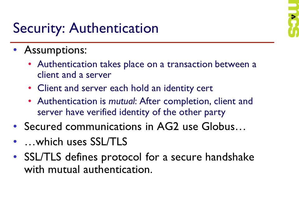 Security: Authentication