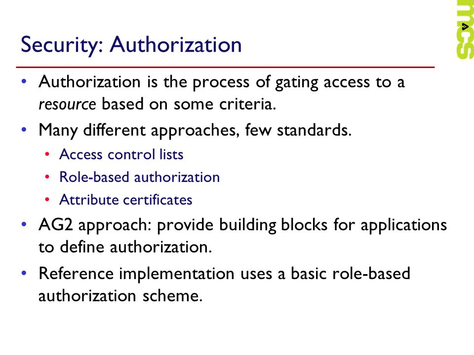 Security: Authorization