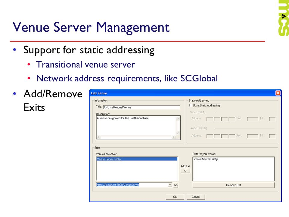 Venue Server Management