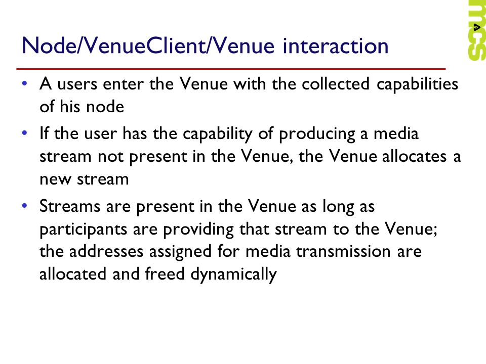Node/VenueClient/Venue interaction
