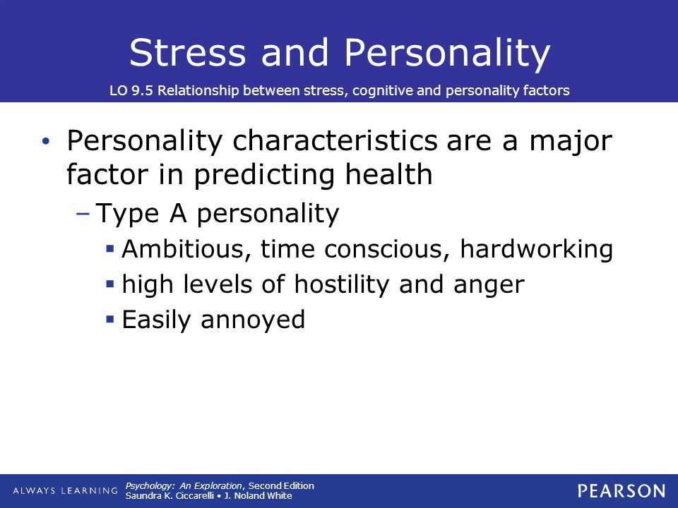 theoretical relationship between stress and personality