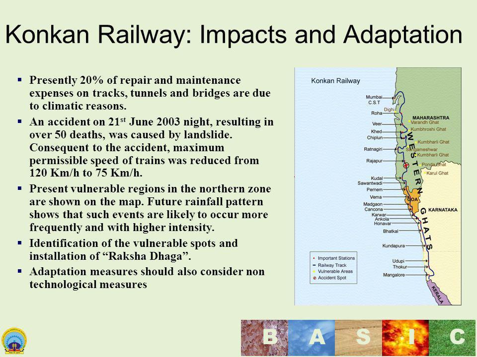 Konkan Railway: Impacts and Adaptation
