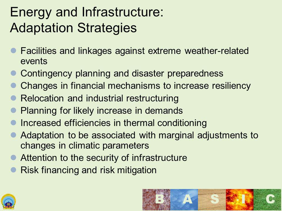 Energy and Infrastructure: Adaptation Strategies