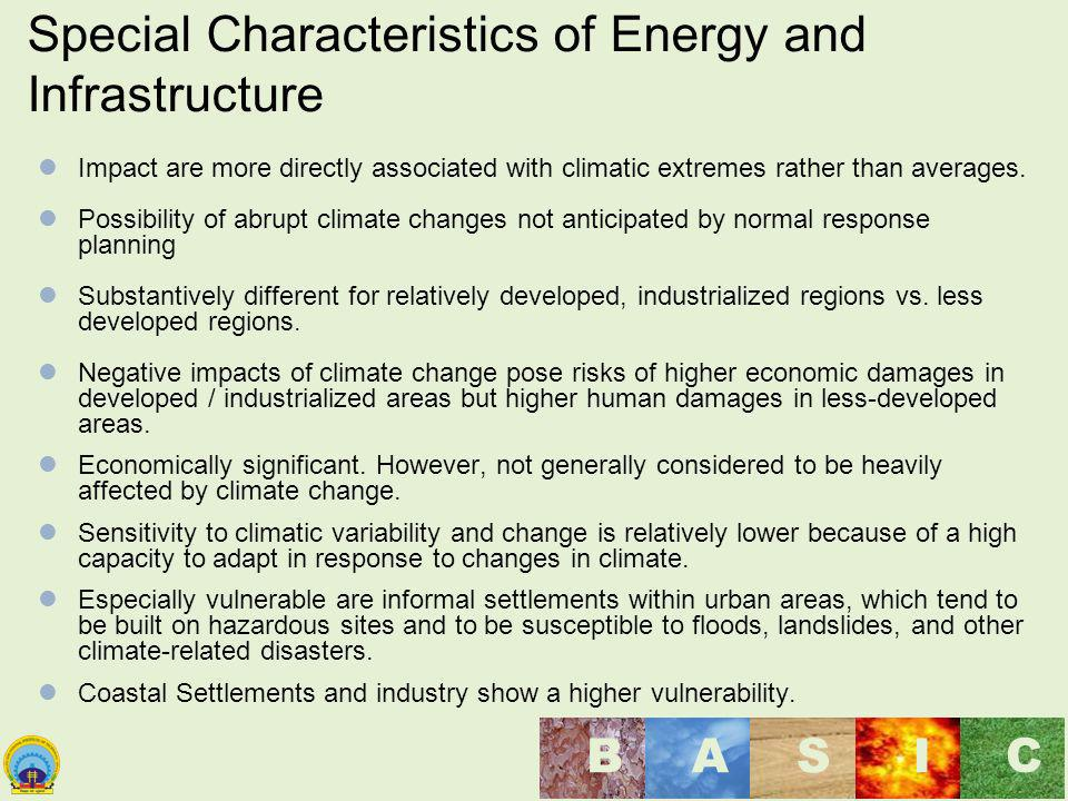 Special Characteristics of Energy and Infrastructure
