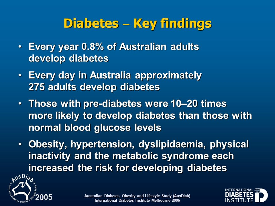Diabetes  Key findings
