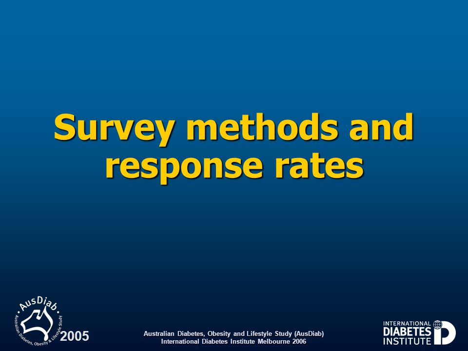 Survey methods and response rates