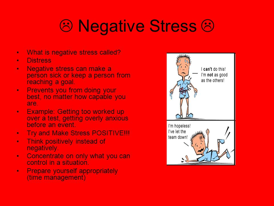  Negative Stress  What is negative stress called Distress