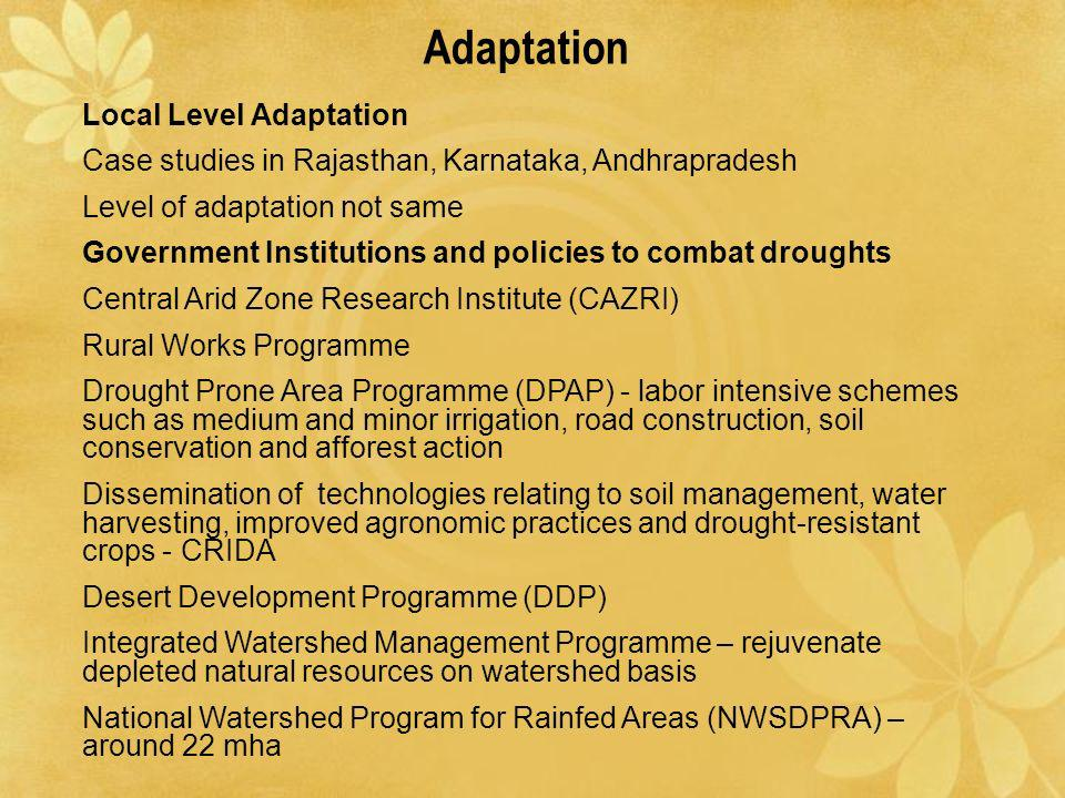 Adaptation Local Level Adaptation