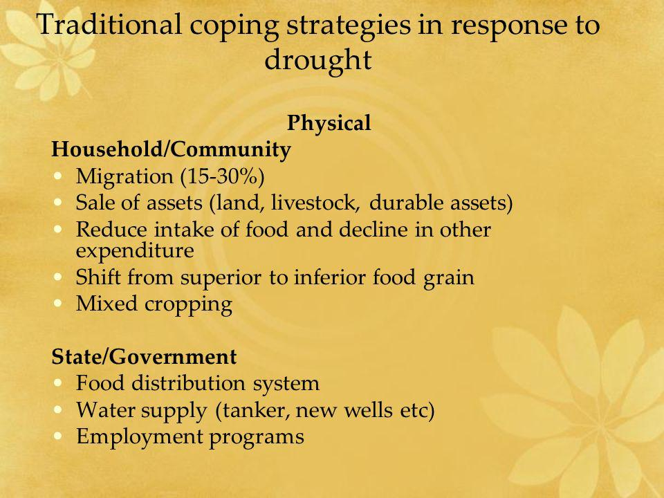 Traditional coping strategies in response to drought
