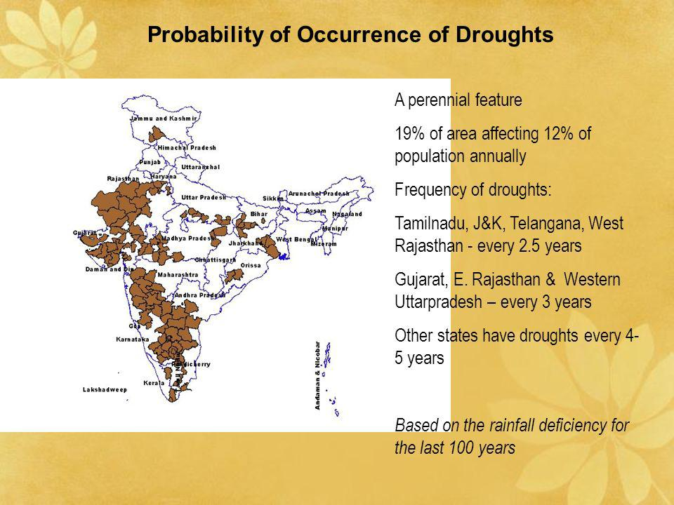 Probability of Occurrence of Droughts