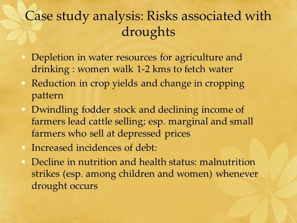 Case study analysis: Risks associated with droughts