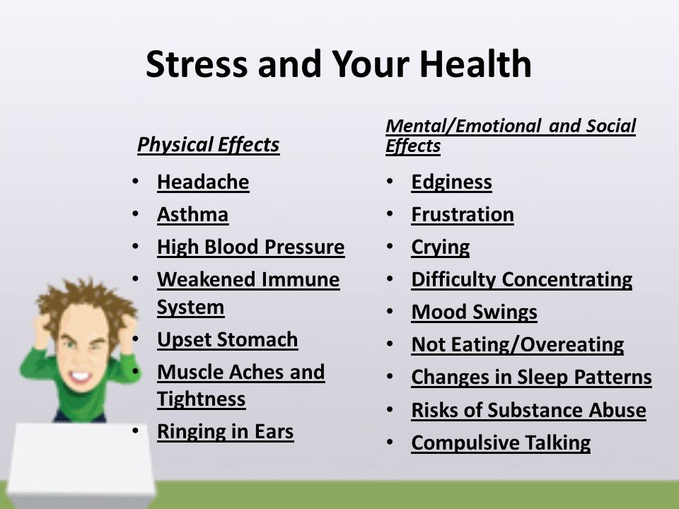 Stress and Your Health Physical Effects Headache Asthma