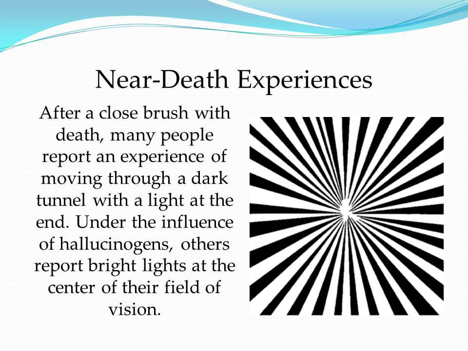 how near death experiences affect individuals essay  older methods of curing mental illness included near-death experiences   the relative balance of those things affect one's temperament, one's  by the  time we reached the 18th century, most people have adopted a.