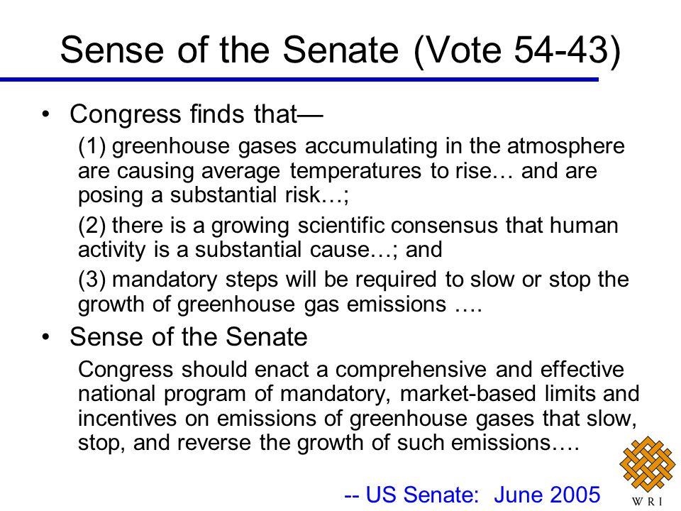 Sense of the Senate (Vote 54-43)